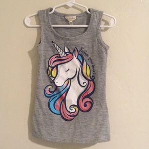 Other - Grey Girl's Unicorn Tanktop